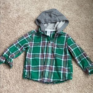 Carters green plaid baby shirt size 18 months